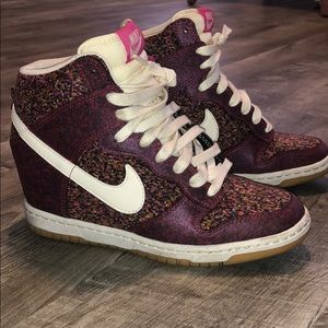 Rare Nike Dunk Sky High Sneaker Wedge